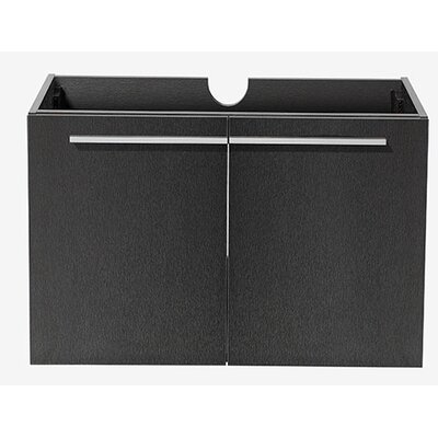 Vista 35 Single Bathroom Vanity Base Base Finish: Black