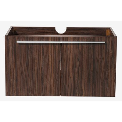 Vista 35 Single Bathroom Vanity Base Base Finish: Walnut
