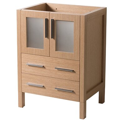 Torino 24 Single Bathroom Vanity Base Base Finish: Light Oak