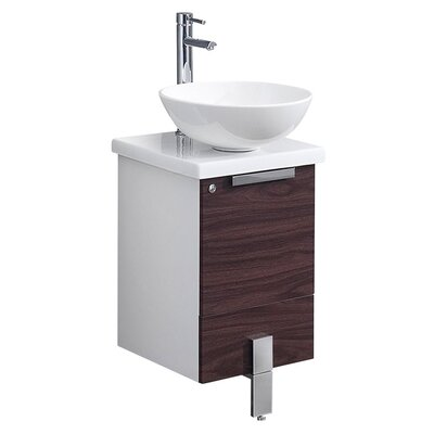 Adour 15 Single Bathroom Vanity Base Base Finish: Dark Walnut