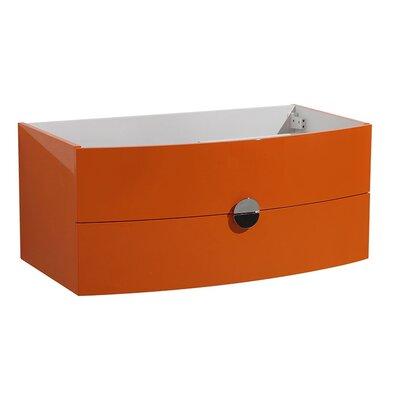 Energia 36 Single Bathroom Vanity Base Base Finish: Orange