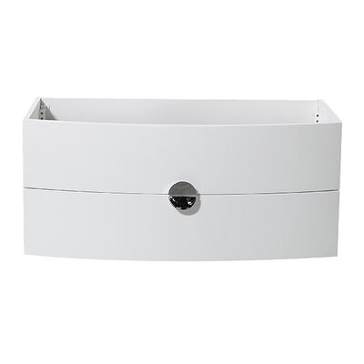 Energia 36 Single Bathroom Vanity Base Base Finish: White