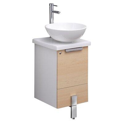 Adour 15 Single Bathroom Vanity Base Base Finish: Light Walnut