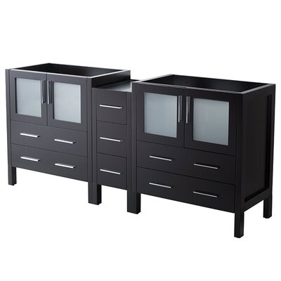 Torino 72 Double Bathroom Vanity Base Base Finish: Espresso