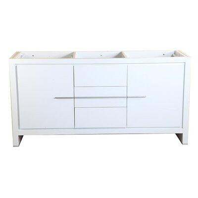 Allier 60 Double Bathroom Vanity Base Base Finish: White