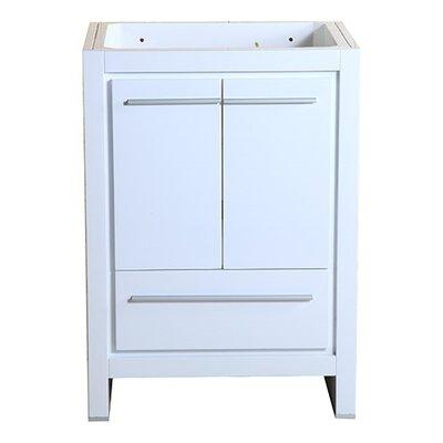 Allier 24 Single Bathroom Vanity Base Base Finish: White