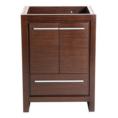 Allier 24 Single Bathroom Vanity Base Base Finish: Wenge Brown