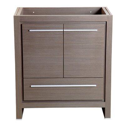Allier 30 Single Bathroom Vanity Base Base Finish: Gray Oak