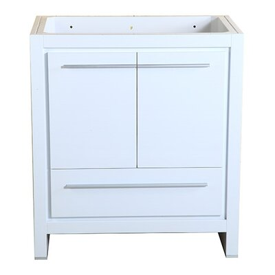 Allier 30 Single Bathroom Vanity Base Base Finish: White