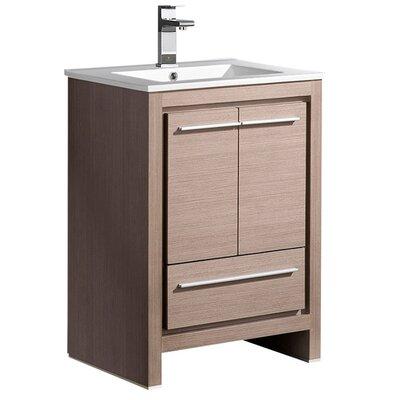 Allier 24 Single Bathroom Vanity Set Base Finish: Gray Oak