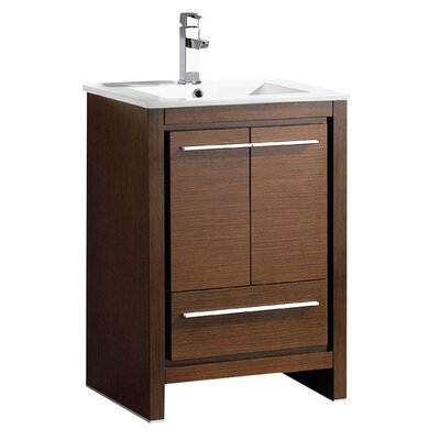 Allier 24 Single Bathroom Vanity Set Base Finish: Wenge Brown