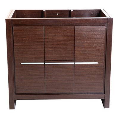 Allier 36 Single Bathroom Vanity Base Base Finish: Wenge Brown