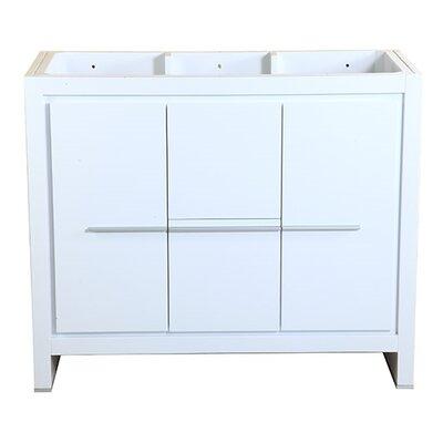 Allier 40 Single Bathroom Vanity Base Base Finish: White