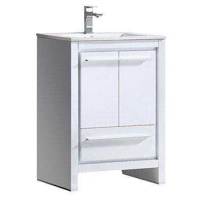 Allier 24 Single Bathroom Vanity Set Base Finish: White
