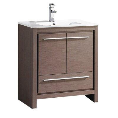 Allier 30 Single Bathroom Vanity Set Base Finish: Gray Oak