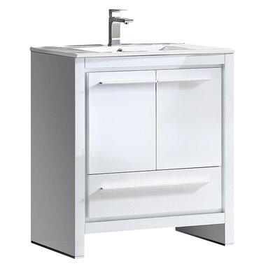 Allier 30 Single Bathroom Vanity Set Base Finish: White