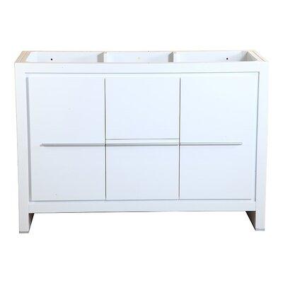 Allier 48 Single Bathroom Vanity Base Base Finish: White