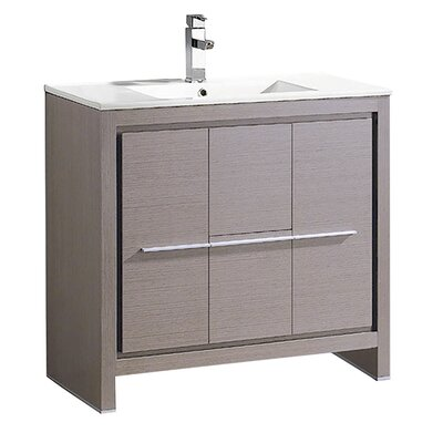 Allier 36 Single Bathroom Vanity Set Base Finish: Gray Oak
