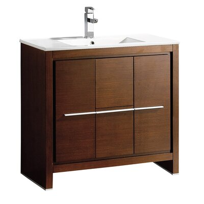 Allier 36 Single Bathroom Vanity Set Base Finish: Wenge Brown
