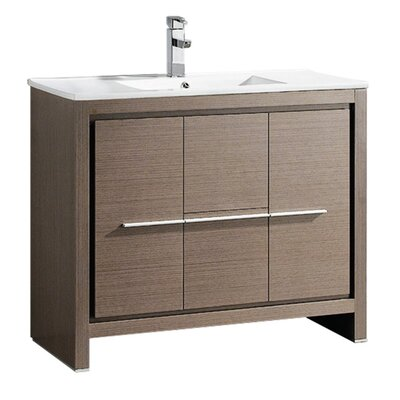 Allier 40 Single Bathroom Vanity Set Base Finish: Gray Oak