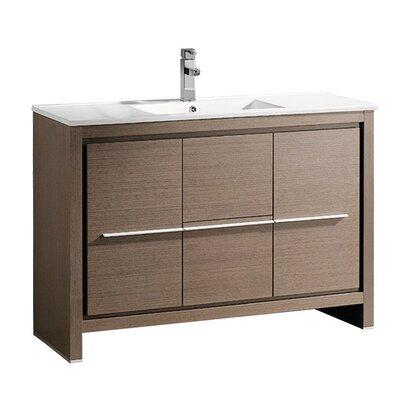 Allier 48 Single Bathroom Vanity Set Base Finish: Gray Oak