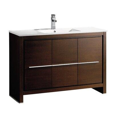Allier 48 Single Bathroom Vanity Set Base Finish: Wenge Brown