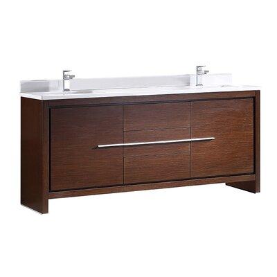 Allier 72 Double Bathroom Vanity Set Base Finish: Wenge Brown