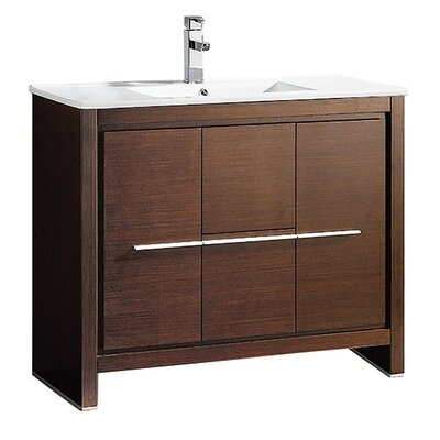 Allier 40 Single Bathroom Vanity Set Base Finish: Wenge Brown