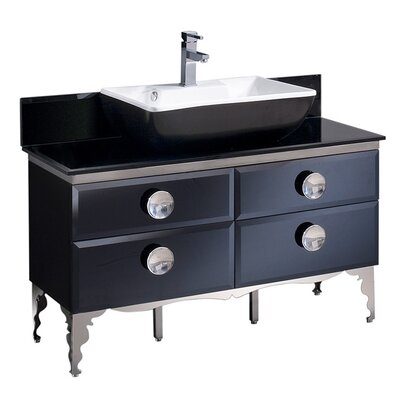Moselle Glass 47 Single Bathroom Vanity Set