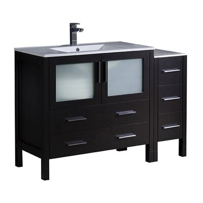 Torino 48 Single Bathroom Vanity Set Base Finish: Espresso
