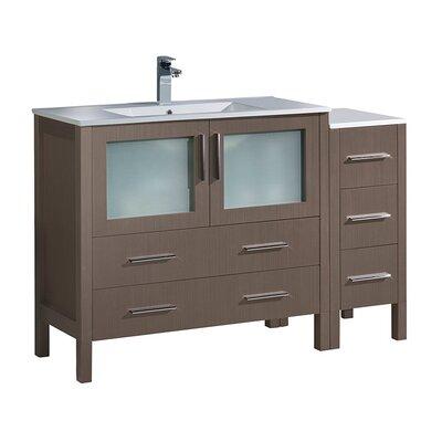 Torino 48 Single Bathroom Vanity Set Base Finish: Gray Oak