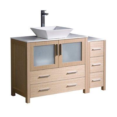 Torino 48 Single Bathroom Vanity Set Base Finish: Light Oak