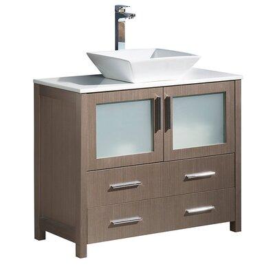 Torino 36 Single Bathroom Vanity Set Base Finish: Gray Oak