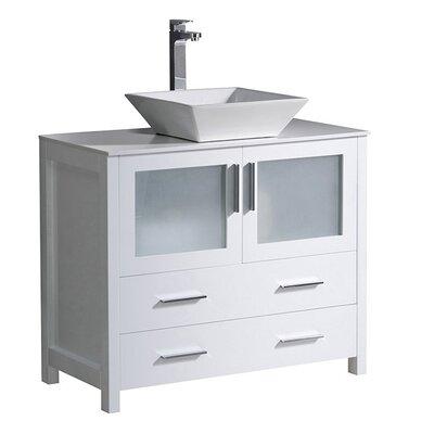 Torino 36 Single Bathroom Vanity Set Base Finish: White
