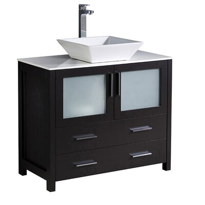 Torino 36 Single Bathroom Vanity Set Base Finish: Espresso