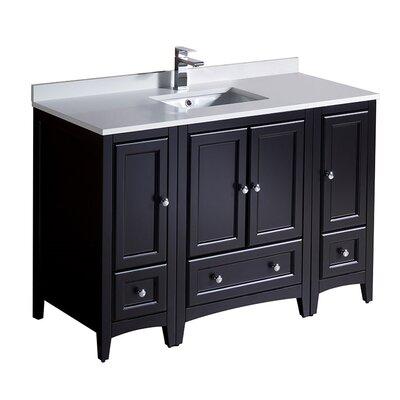 Oxford 48 Single Bathroom Vanity Set Base Finish: Espresso
