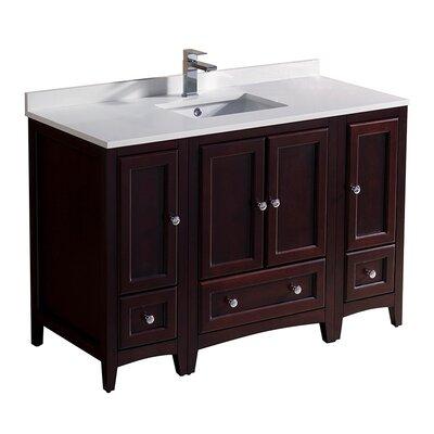 Oxford 48 Single Bathroom Vanity Set Base Finish: Mahogany