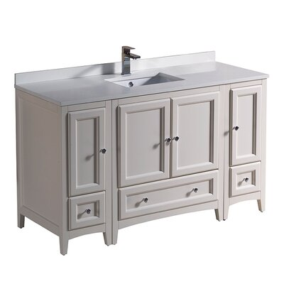 Oxford 54 Single Bathroom Vanity Set Base Finish: Antique White