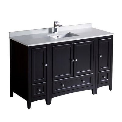 Oxford 54 Single Bathroom Vanity Set Base Finish: Espresso