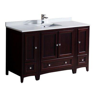 Oxford 54 Single Bathroom Vanity Set Base Finish: Mahogany