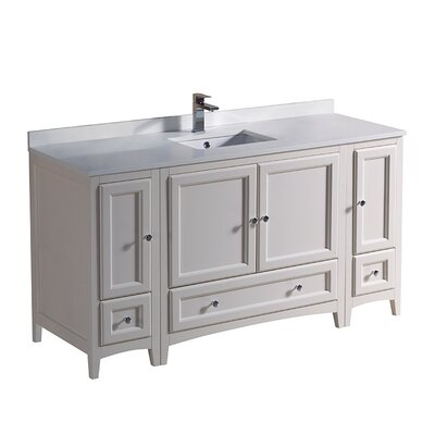 Oxford 60 Single Bathroom Vanity Set Base Finish: Antique White