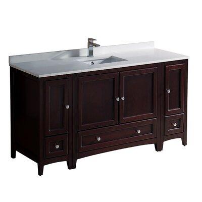 Oxford 60 Single Bathroom Vanity Set Base Finish: Mahogany