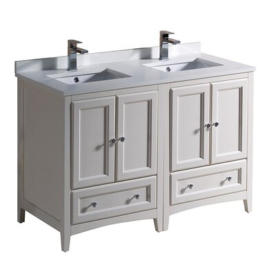 Oxford 48 Double Bathroom Vanity Set Base Finish: Antique White