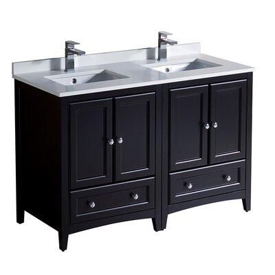 Oxford 48 Double Bathroom Vanity Set Base Finish: Espresso