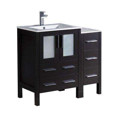 Torino 36 Single Bathroom Vanity Set Base Finish: Espresso