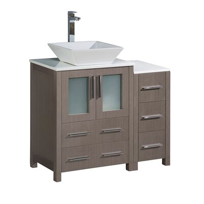 Torino 36 Single Bathroom Vanity Set Base Finish: Gray Oak