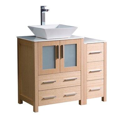 Torino 36 Single Bathroom Vanity Set Base Finish: Light Oak