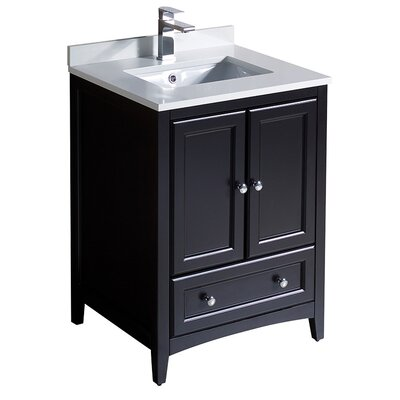 Oxford 24 Single Bathroom Vanity Set Base Finish: Espresso