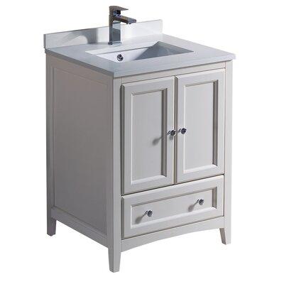 Oxford 24 Single Bathroom Vanity Set Base Finish: Antique White