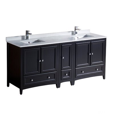 Oxford 72 Double Bathroom Vanity Set Base Finish: Espresso
